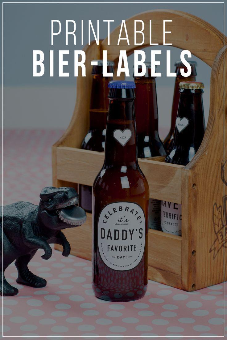 Printable Bieretiketten Als Cooles Vatertag Geschenk Geschenke Zum Vatertag Selber Machen Vatertag Etiketten Selber Machen