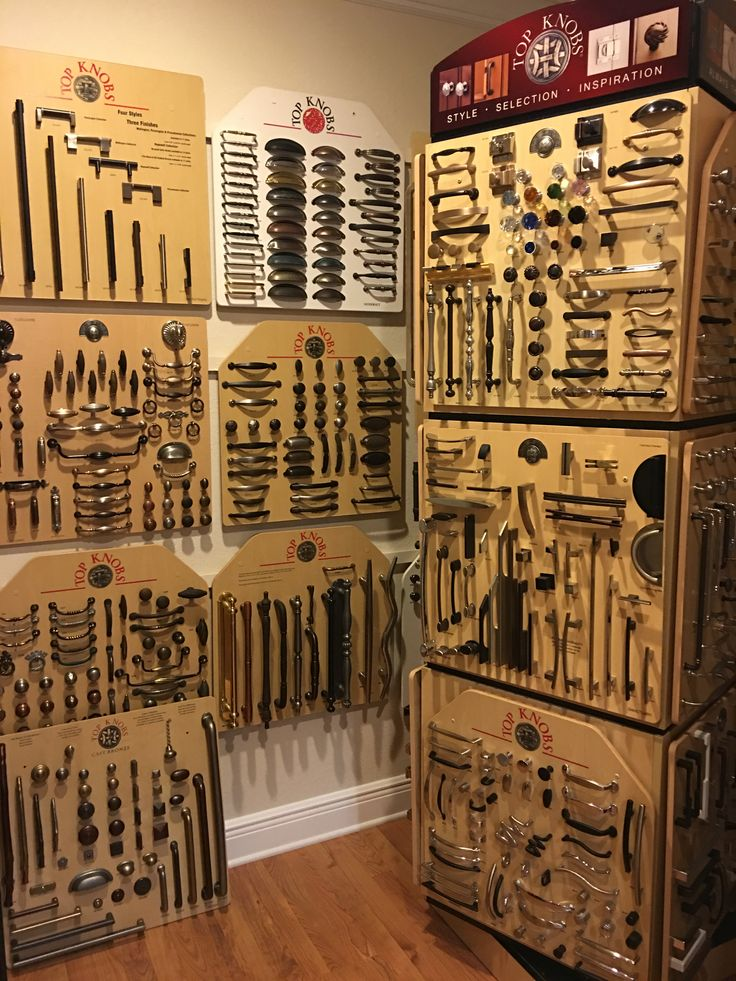 this is only a portion of our top knobs section in our hardware room - Topknobs