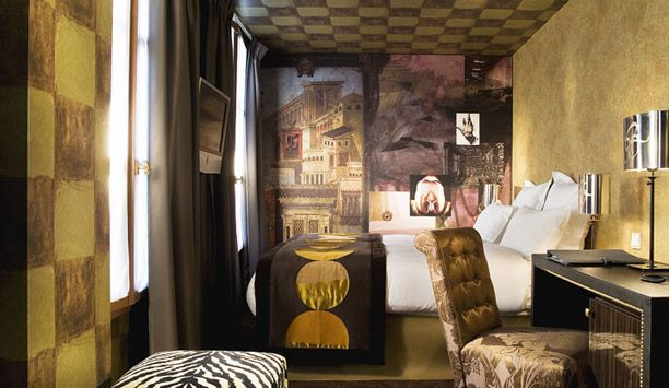 Hotel le Bellechasse: The hotel's intimate rooms incorporate various looks but all mirror Lacroix's aesthetic.