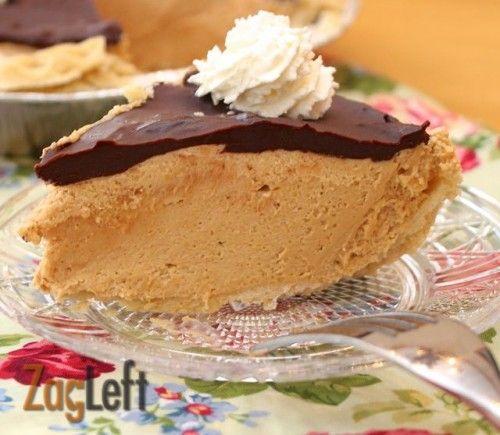 Peanut Butter Pie with Rich Chocolate Ganache from Zagleft