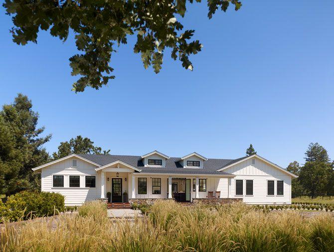 Sonoma farmhouse by bevan associates house in 2018 for Modern rambler house plans