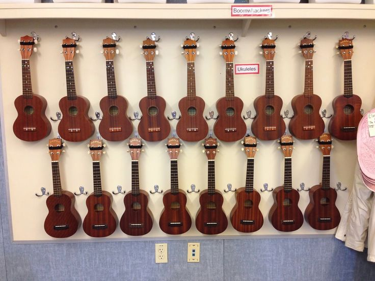 Music with Ms. Ulrich - a brand new blog.  It has details on how to get this great look. ;-)  Display ukuleles in music classroom and encourage easy access for students.