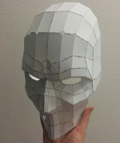 Life Size Punisher Mask Papercraft Free Template Download - http://www.papercraftsquare.com/life-size-punisher-mask-papercraft-free-template-download.html#LifeSize, #Mask, #Punisher