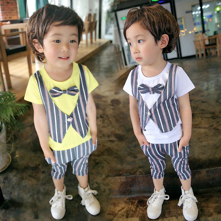 >> Click to Buy << High Quality Costume Cloth Boys Shirt 2pcs Set Infant Baby Boys Toddler Strip Fake Two-Piece Suit Vest T Shirt with Tie & Short  #Affiliate