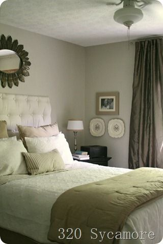 Step by step Master Bedroom redo - check out the DYI headboard