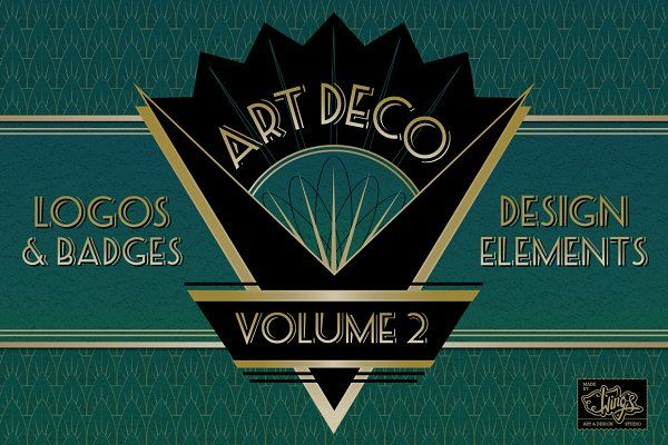 Art Deco Logos and Design Elements - Objects
