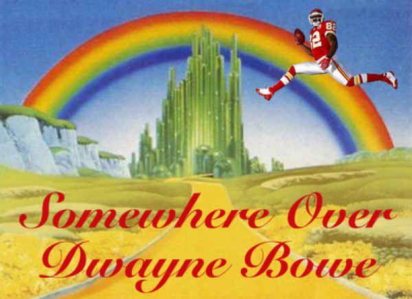 Somewhere over Dwayne Bowe. Kansas City Chiefs