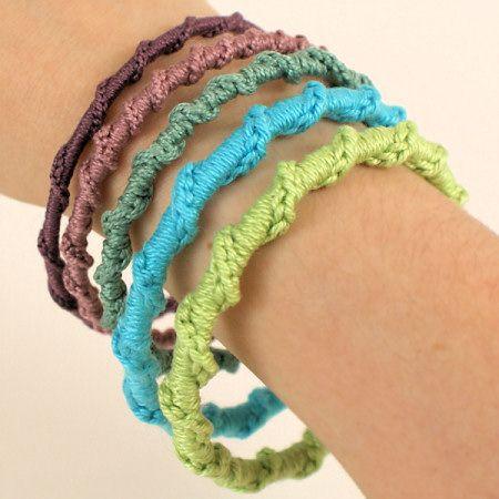 twisted chain bangle crochet pattern