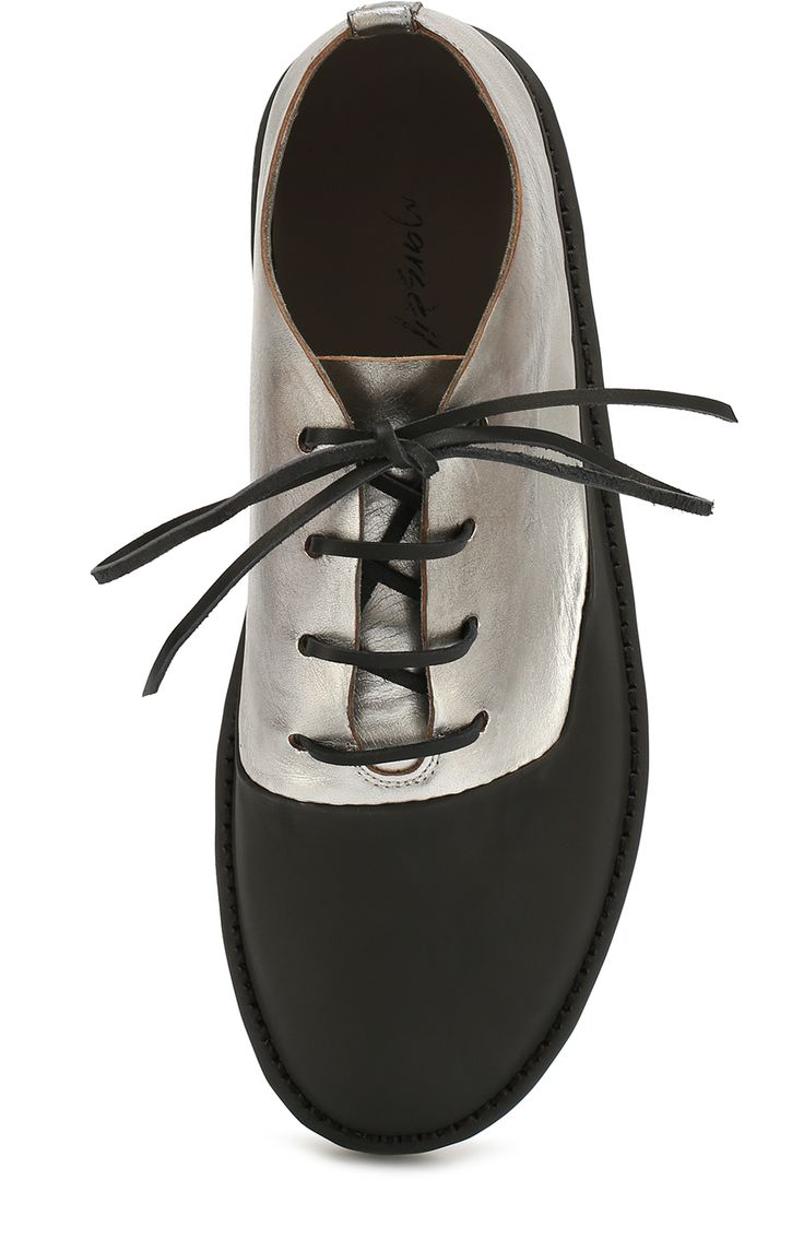 Мужские черные ботинки из металлизированной кожи с резиновым мысом Marsell, арт. MMG122/H0RSE купить в ЦУМ   Фото №4
