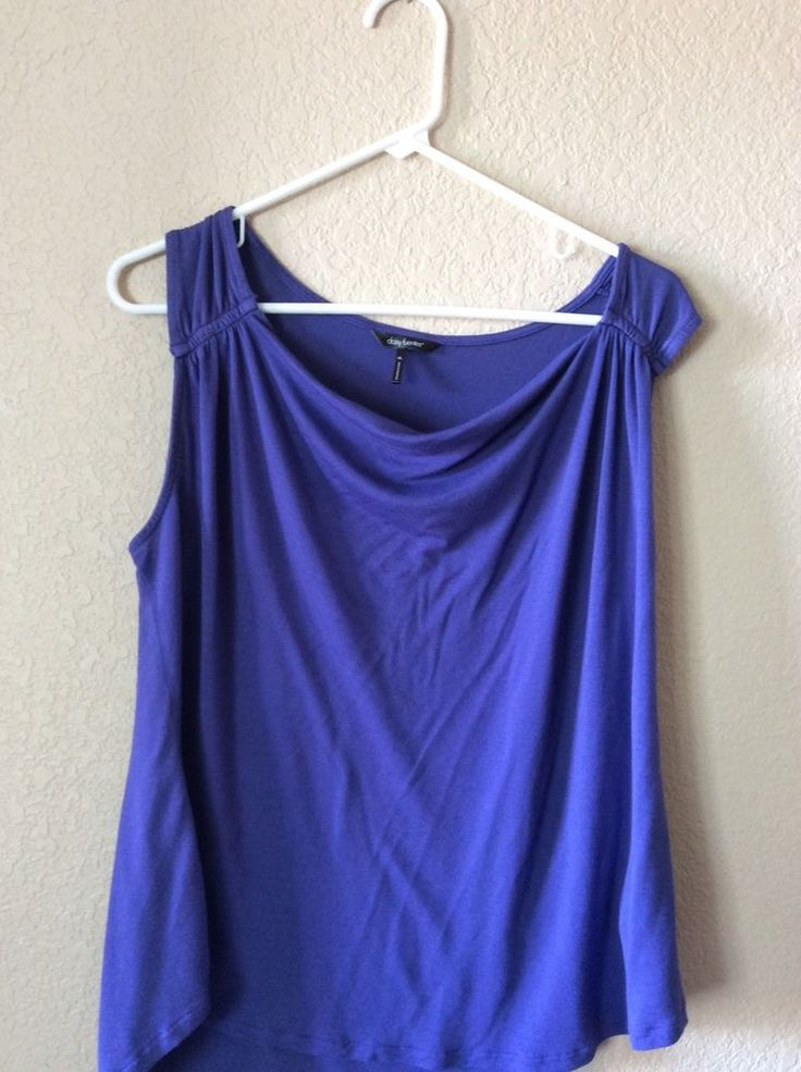 Daisy Fuentes womens purple sleeveless blouse top XL #DaisyFuentes #Blouse