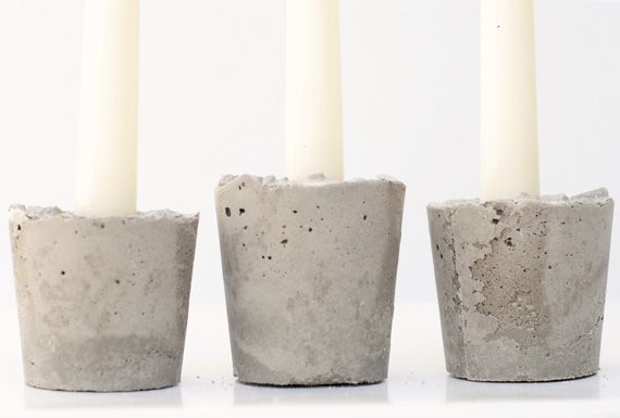Use paper cups concrete to make pretty candle holders for Used candle holders