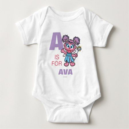 A is for Abby Cadabby | Add Your Name Baby Bodysuit - tap, personalize, buy right now!