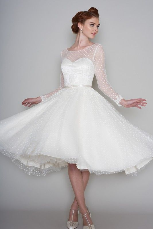 Trendy For the bride who loves the vintage tea length dresses LouLou Bridal Wedding Dress Maisie