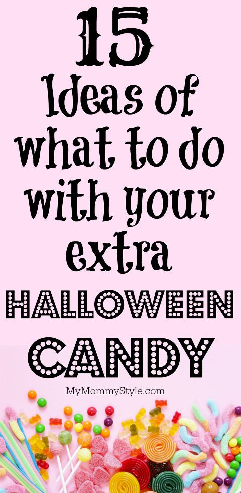 15 Ideas for Your Halloween Candy. Ideas for baking together, serving together, or portion control for your Halloween Candy!
