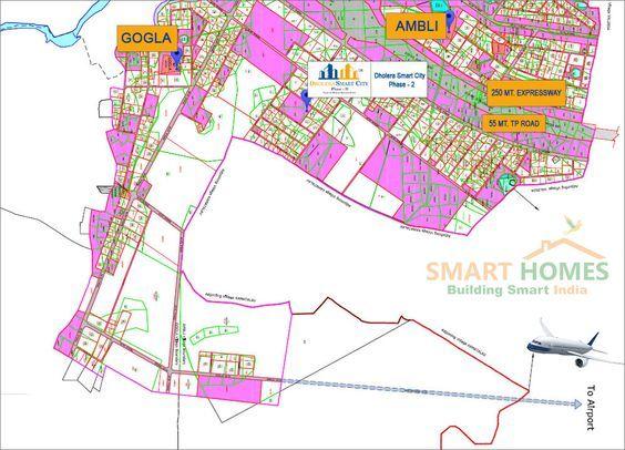 Map of Dholera Smart City Phase-2. http://bit.ly/2abr6PJ #Dholera #DholeraSIR #DholeraSmartCity #Gujarat