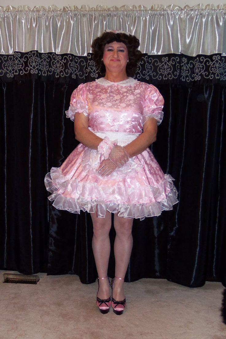 Posing in my G2407 Lockable French Maid Uniform/Sissy Maid Dress