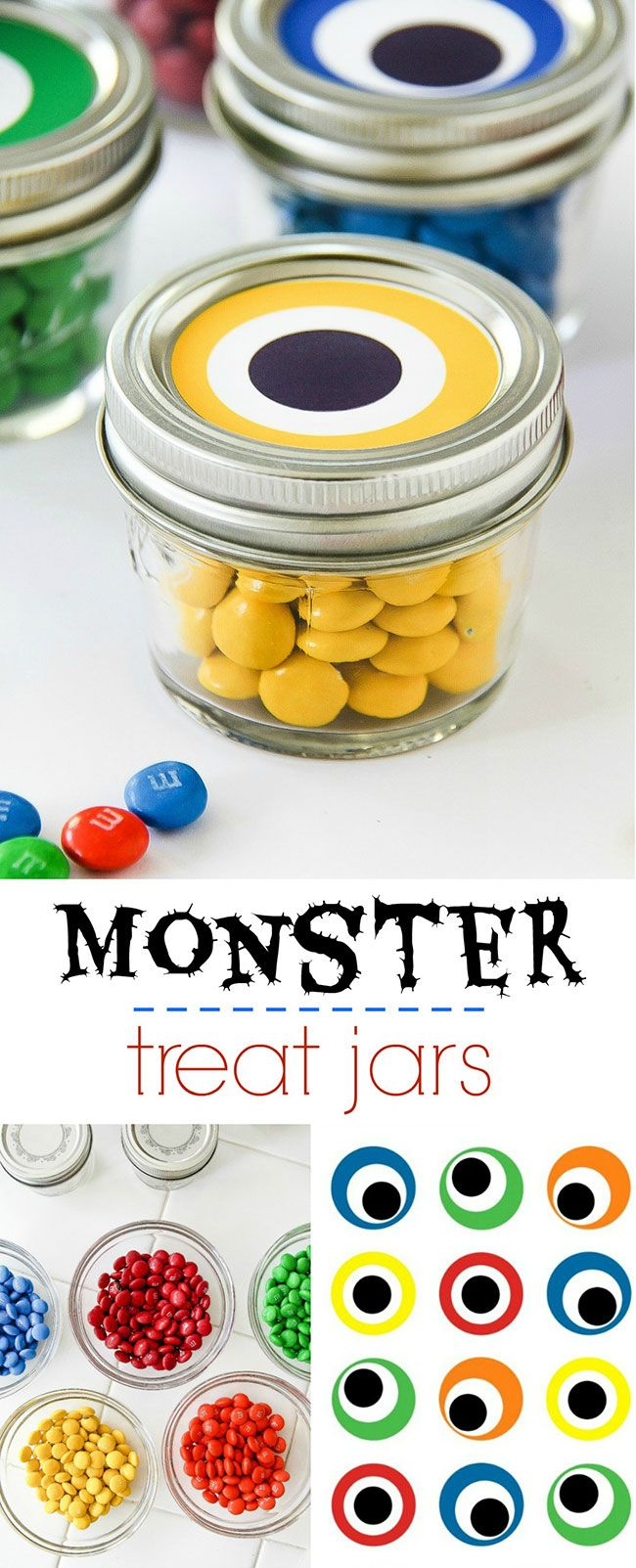 Halloween classroom crafts - Looking For A Last Minute Idea For Halloween Or Throwing A Monster Iffic Bash I M Over At Myprintly Sharing A Tutorial And Free Printable To Make These
