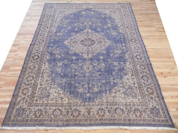 7.8x10.6 234x320 cm Blue beige and taupe color by WeMakeRugs - $999