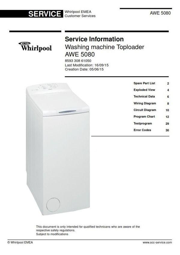 Whirlpool Awe 5080 Washing Machine Service Technicians Manual Washing Machine Service Washing Machine Whirlpool Washing Machine
