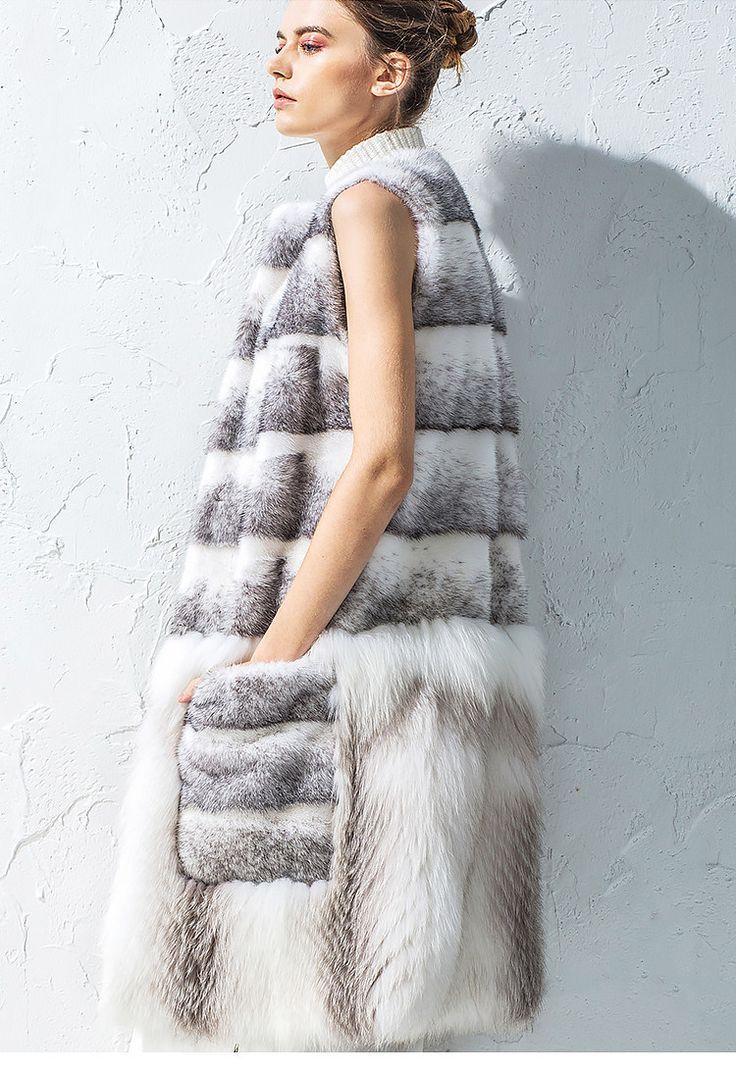 Авангардный женский меховой жилет круглый вырез, норка приобрести на Tao.ru: русском Таобао, магазине товаров из Китая, как Aliexpress, только надежнее!