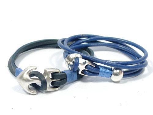 couples leather bracelet * anchor leather bracelets * gift for boyfriend * gift for girlfriend * men anchor bracelet * couples jewelry