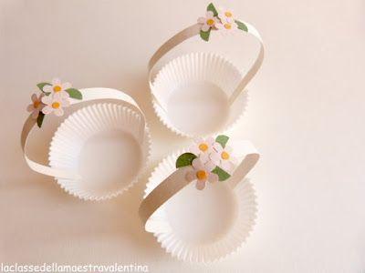 DIY cupcake wrap mini basket inspiration / La classe della maestra Valentina