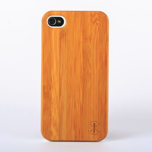 Bamboo Cabot Case- White iPhone 4/4S -   Composed of a solid piece of bamboo with a polycarbonate shell, this unique case offers protection from harmful elements and scratches. Plus, 20% of the sale goes to charity and 1 tree is planted per product sold!