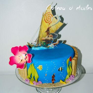 gateau vaiana moana cake