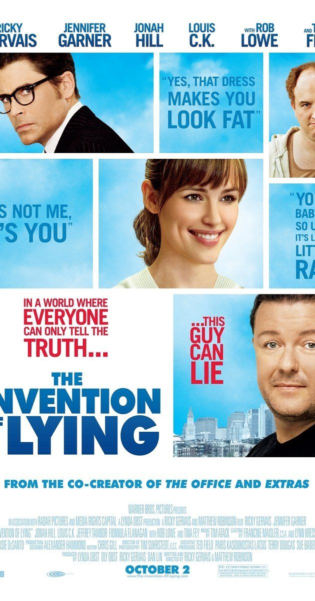 Directed by Ricky Gervais, Matthew Robinson.  With Ricky Gervais, Jennifer Garner, Jonah Hill, Louis C.K.. A comedy set in a world where no one has ever lied, until a writer seizes the opportunity for personal gain.