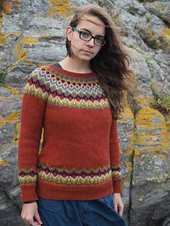 """Second Grace,"" by Bristol Ivy, knit with Fibre Co. Cumbria Worsted."