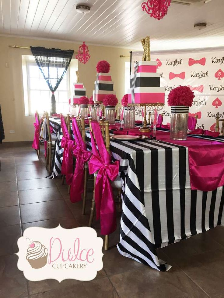 Kate Spade birthday party! See more party ideas at CatchMyParty.com!