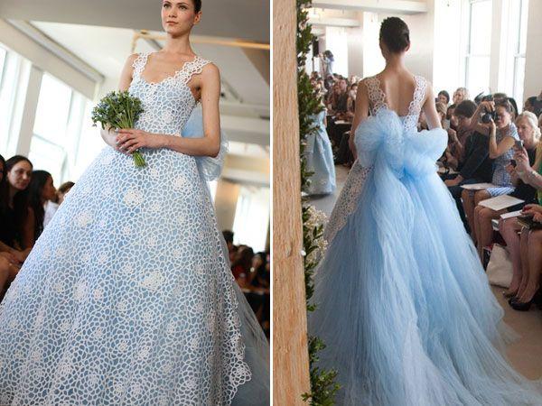 15 Best Images About Blue Wedding Dress On Pinterest