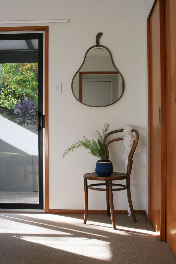 #homestyling by #placesandgraces #bedroomstyling #bentwoodchair #pearmirror #asparagusfern