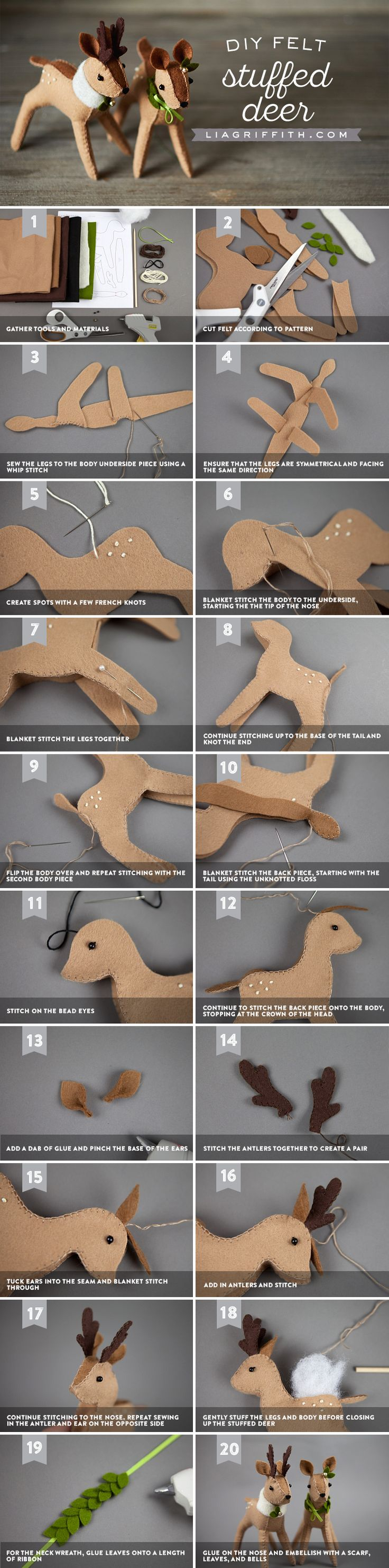 DIY Felt Reindeer