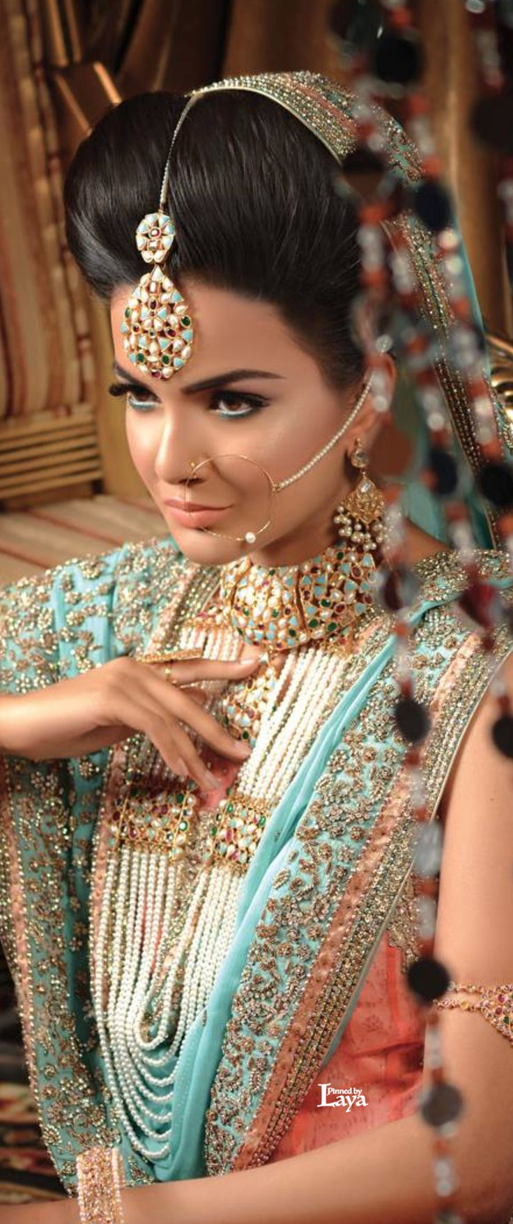 Unique and regal Indian bridal look. IndianWedding,