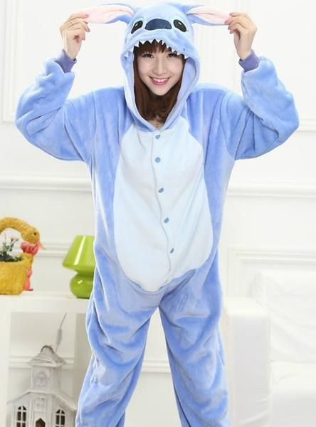 8bed3a85b2 BLUE STITCH COSTUME PAJAMAS Stitch Costume