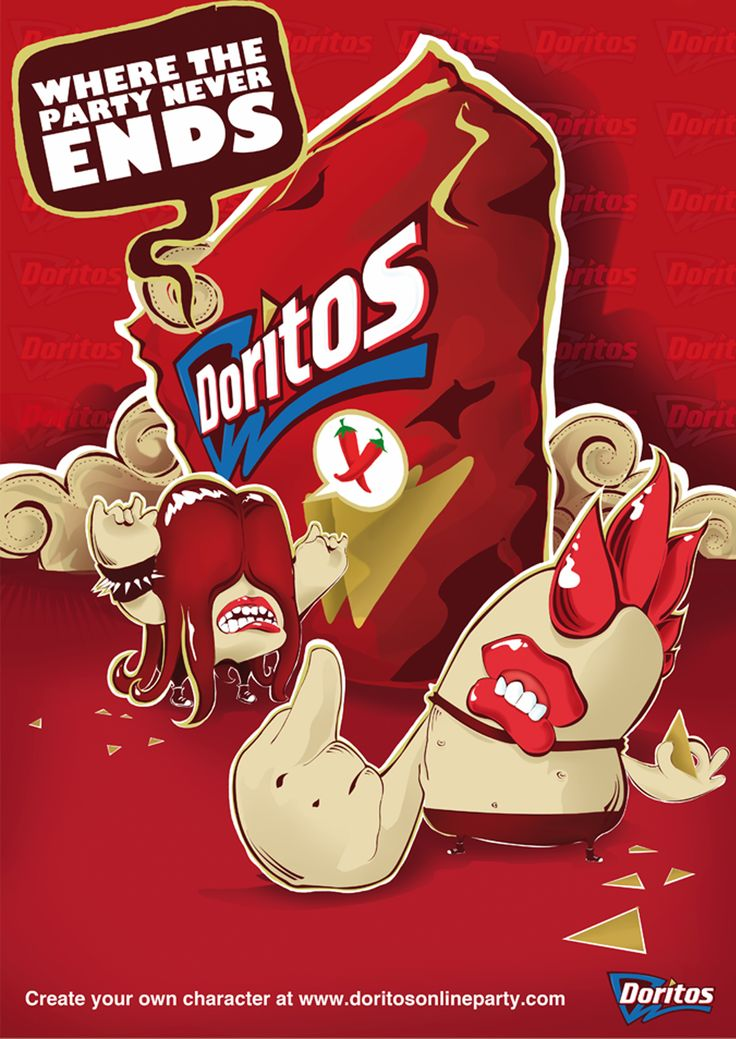 doritos chilli heatwave advertisement poster by Emblem, visit www.emblem.ie to see more creative illustration projects