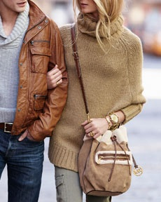 sweater: Big Sweaters, Michael Kors Pur, Cute Couple, Chunky Sweaters, Autumn Style, Fall Outfits, Leather Jackets, Handsome Man, Stylish Couple