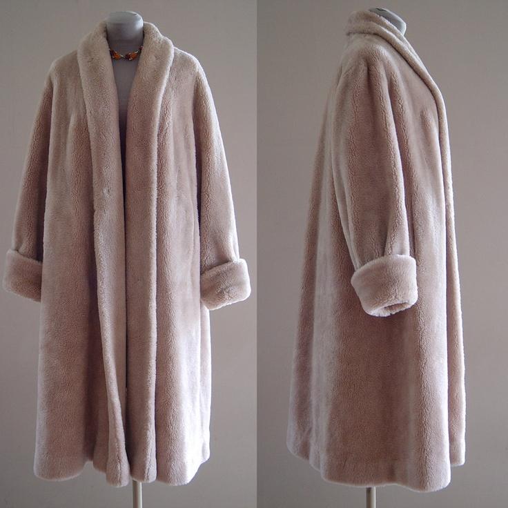 Faux Fur Coat Vintage 1940s Womens Rothmoor Borgana Swing ...