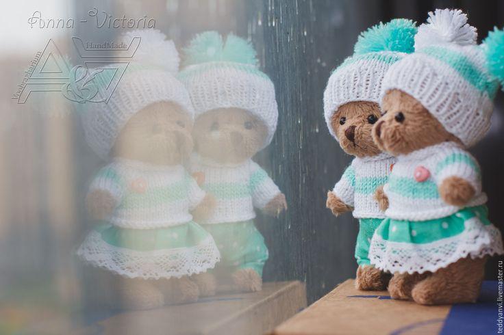 Купить Осенние Мишки - комбинированный, тедди, авторский мишка, тедди в подарок…