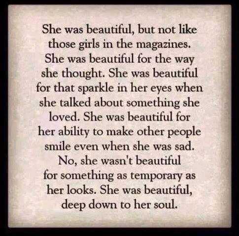She was beautiful ... ...