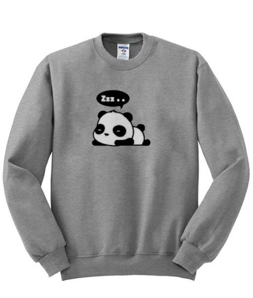 About zzz Panda Sweatshirt from clothesmapper.com This sweatshirt is Made To Order, one by one printed so we can control the quality. We use newest DTG Technology to print on to sweatshirt. Color variant is black, gray, white.