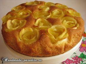 Яблочный пирог с розами - мягкий, ароматный и весьма оригинальный рецепт яблочного пирога с розами. Яблочный пирог просто тает во рту!