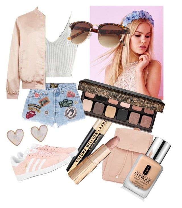 """🌸❤️"" by talia-123 on Polyvore featuring L'Oréal Paris, Lipsy, Laura Mercier, MadeWorn, WithChic, Cameo Rose, New Look, adidas Originals, Charlotte Tilbury and Clinique"