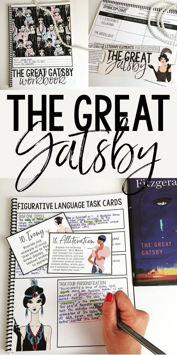 The Great Gatsby Interactive Notebook   Grades 7-12   Comprehensive Unit