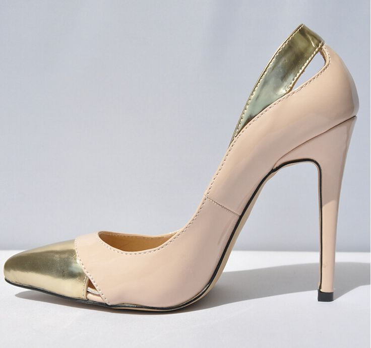 : Hot Sale Women Pumps 2015,Sexy Pu Nude/Black/Red Pumps Shoes,Good Quality 11cm Pointed Toe High Heels Shoes For Party