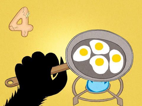 Four eggs! The Lonely Beast 123 – a counting adventure for kids for iPhone, iPad & iPod Touch
