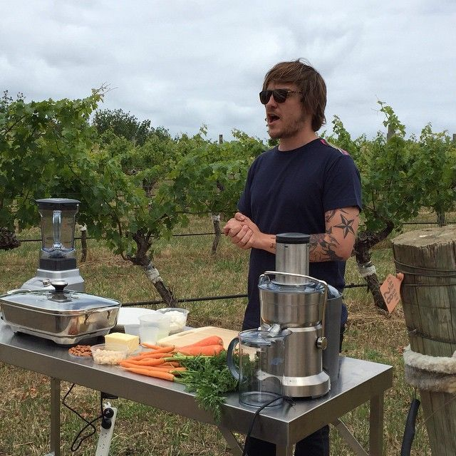 Matt Stone showing discussing sustainable cooking