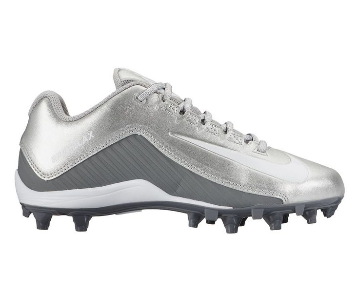 #LacrosseUnlimited #Nike Womens Speedlax 5 Cleats Silver/White