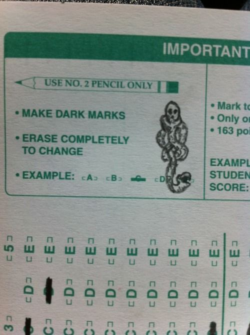 make dark marks. :)
